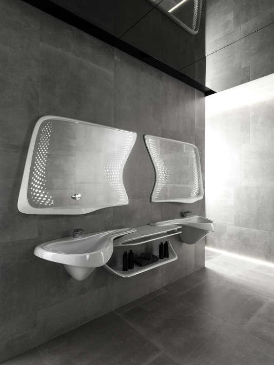 La collection Vitae de l'architecte Zaha Hadidpour Porcelanosa s'inspire de la fluidité de l'eau.