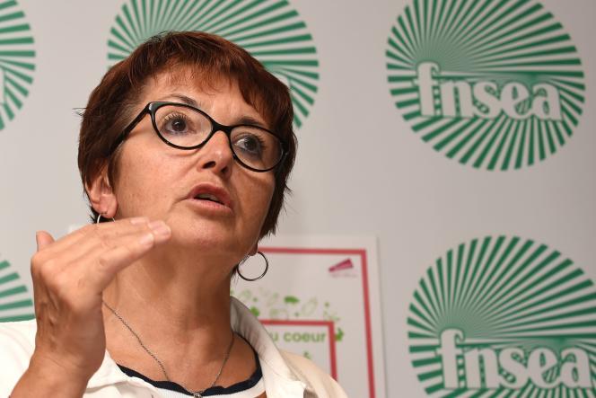 Christiane Lambert, présidente de la FNSEA, le 5 septembre.
