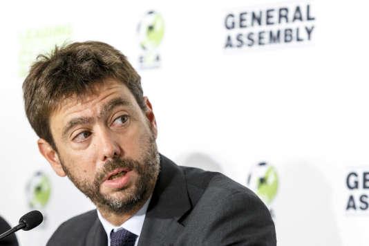 Andrea Agnelli vient d'être élu à la présidence de l'ECA, le syndicat des grands clubs de football européen.