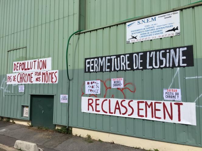 Le site de l'usine SNEM à Montreuil.