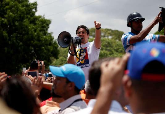 Freddy Guevara, vice-président du Parlement vénézuélien, à Caracas, le 6 avril.