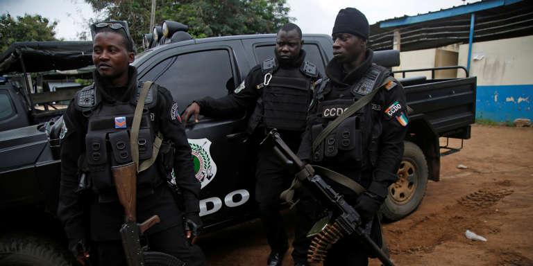 Des policiers ivoiriens à Abidjan, en juillet 2017.