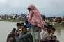 Des réfugiés rohingyas près de Ukhia (Bangladesh), près de la frontière birmane, le 4 septembre.
