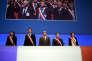 Anne Hidalgo, François Baroin, Francois Hollande et Andre Laignel, lors du rassemblement des maires de France, le 18 novembre 2015.