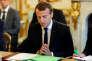 """«Se focalisant sur la figure de l'entrepreneur et sur les dynamiques d'innovation, le concept de """"destruction créatrice""""n'est pas mobilisé par Schumpeter pour justifier quelque dérégulation que ce soit». (Photo : le président de la République Emmanuel Macron, au Palais de l'Elysée, à Paris, le mardi 5 septembre)."""