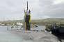 Le sous-marin américain « USS Topeka» dans la base navale américaine d'Apra Harbor, à Santa Rita, sur l'île de Guam, le 29 mai2015.