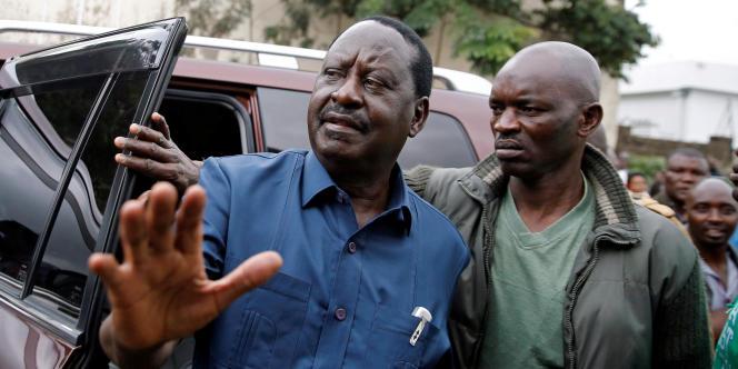 Le leader de l'opposition kényane Raila Odinga, à Nairobi, le 3 septembre 2017.