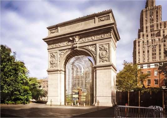 L'installation« Les bonnes barrières font les bons voisins», à New York, en 2017.