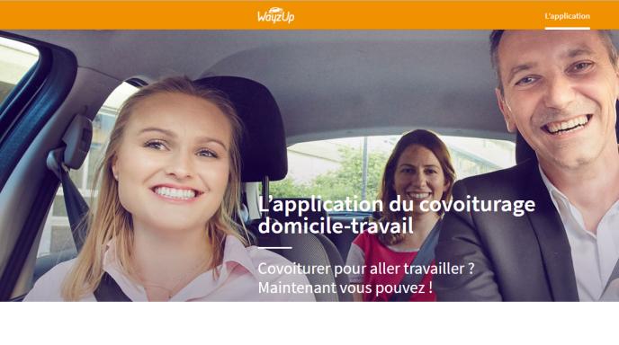 Capture d'écran du site de WayzUp.