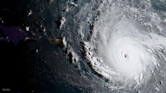 L'ouragan Irma dans une vue satellite du 5 septembre 2017.