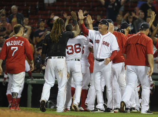 L'équipe des Boston Red Sox, le 5 septembre.
