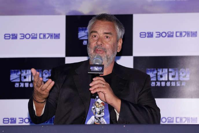 Luc Besson lors de la présentation de « Valérian et la Cité des mille planètes», à Séoul, le 22 août.