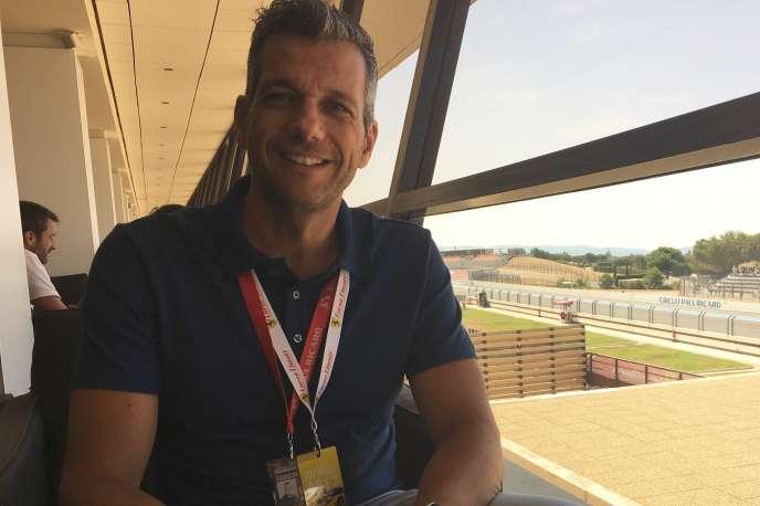 Stéphane Clair, directeur général du circuit Paul-Ricard au Castellet (Var), le 22 juillet.