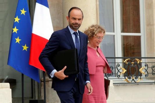 Le premier ministre Edouard Philippe et la ministre du travail Muriel Pénicaud.