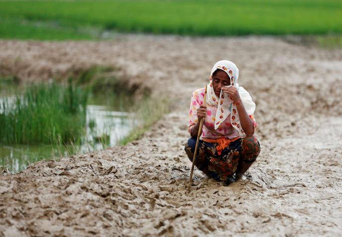 Une réfugiée rohingya, à Teknaf, au Bangladesh, le 3 septembre.