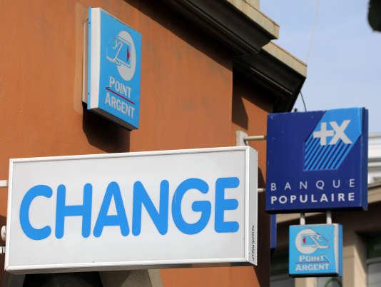 Une agence Banque populaire à Nice.