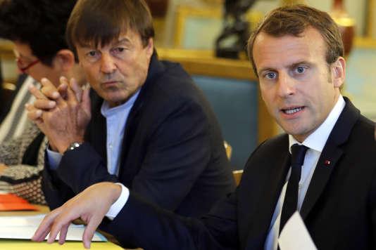 Nicolas Hulot et Emmanuel Macron, le 5 septembre, à l'Elysée.