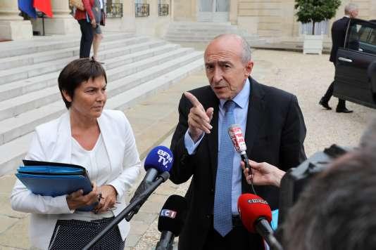 Le ministre de l'intérieur Gérard Collomb à l'Elysée (Paris), le 6 septembre.