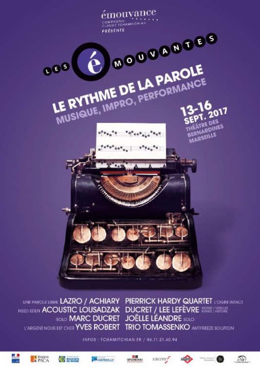 Affiche du festival Les Emouvantes, à Marseille, du 13 au 16 septembre.