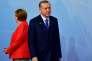 La chancelière allemande Angela Merkel et le président turc Recep Tayyip Erdogan pendant le G20, à Hambourg (Allemagne) , le 7 juillet.