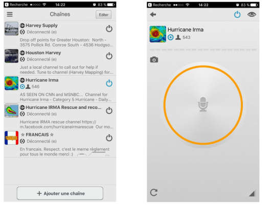 L'application Zello permet de parler à un important groupe de personnes.