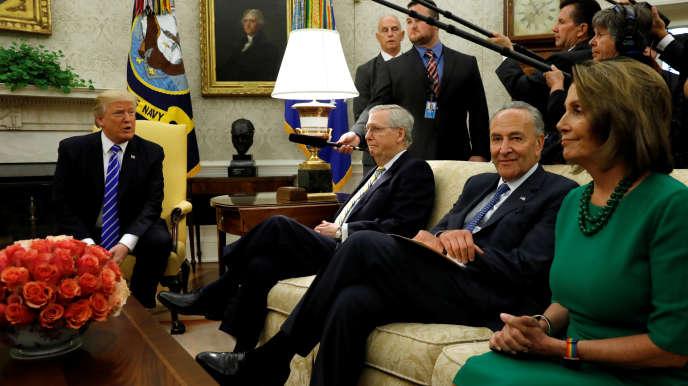 Donald Trump a reçu les leaders du Congrès mercredi.