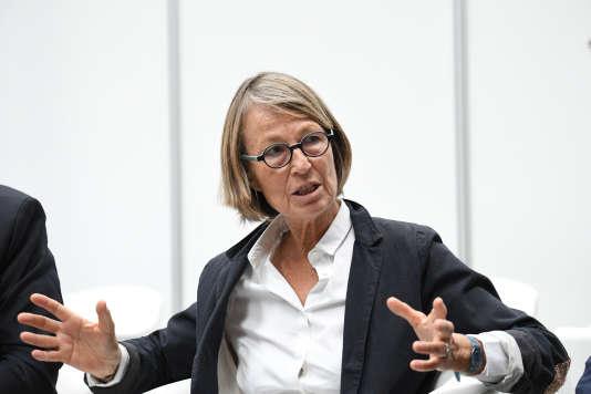 La ministre de la culture Françoise Nyssen à La Rochelle, le 26 juin 2017.