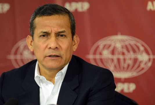 L'ancien président péruvien Ollanta Humala, à Lima en mai.