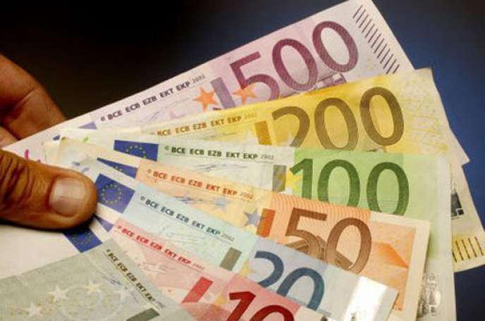 Billets en euros.