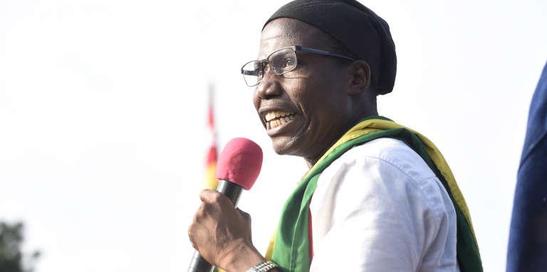 Le fondateur du Parti national panafricain Tikpi Atchadam lors d'une manifestation contre le régime de Faure Gnassingbé, le 6 septembre 2017, à Lomé.