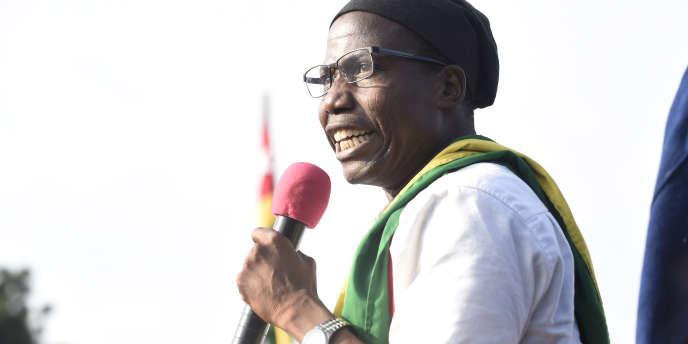 Tikpi Atchadam, chef de file du Parti national panafricain (PNP), lors de la grande manifestation de l'opposition du 6 septembre 2017, à Lomé.