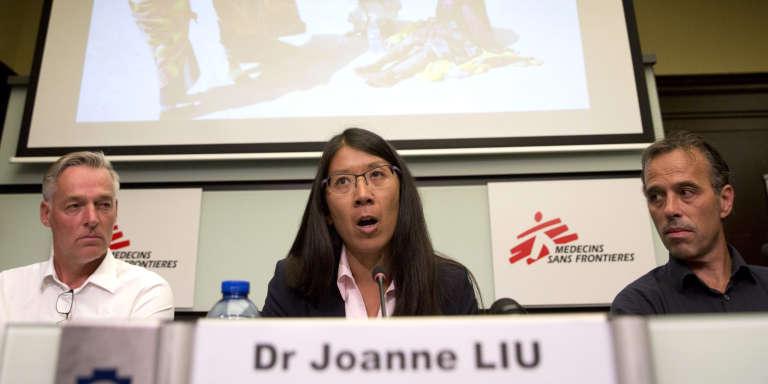 Joanne Liu à Bruxelles, le 7 septembre.