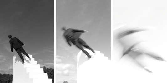 Le tryptique« Fugue/Trampoline» de Yoann Bourgeois.