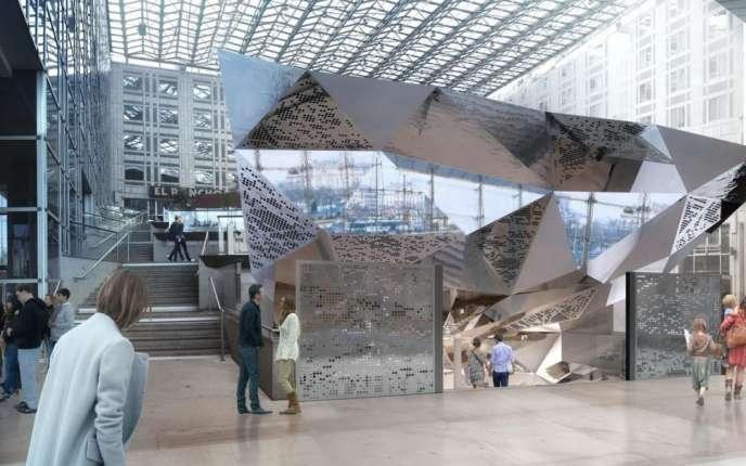 Vue de synthèse du nouvel espace artistique de la place d'Italie, Le13ème Art.