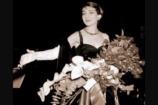 Maria Callas chante«Tosca», acte II, au Royal Opera House, à Covent Garden en 1964.