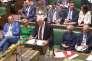 Image provenant de la retransmission télévisée de l'examen de la loi d'abrogation au Parlement de Westmister, le 7 septembre.