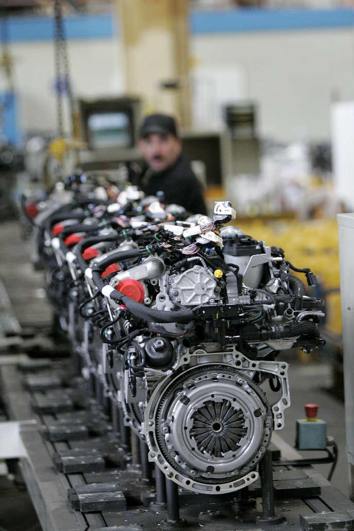 Un site de production de moteur diesel pour automobile de PSA Peugeot Citroën en 2011.