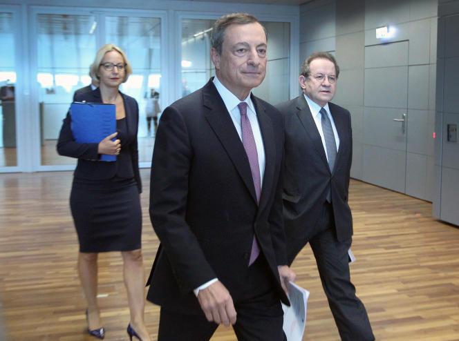 Mario Draghi, président de la BCE, le 7 septembre, à francfort.