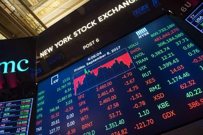 «La hausse de la profitabilité a entraîné celle de l'investissement productif» (Photo: New York Stock Exchange, New York, le 8 septembre).