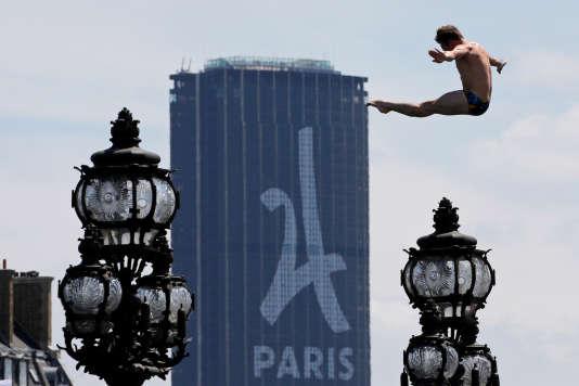 Pendant le week-end de promotion de la candidature de Paris pour l'organisation des Jeux olympiques de 2024, le 23 juin.