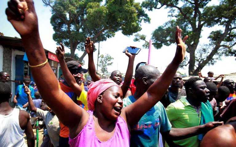 Explosion de joie à Nairobi, le 1er septembre 2017, à l'annonce de l'invalidation par la Cour suprême de la réélection du président sortant Uhuru Kenyatta, le 8 août.