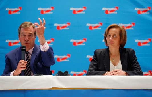 Nigel Farage etBeatrix von Storch, le 8 septembre à Berlin.