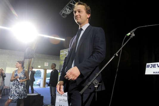 Maël de Calan lors d'un meeting à Morlaix (Finistère), le 30 mai.