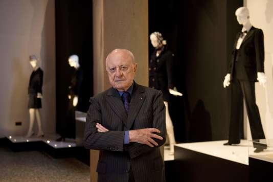 Pierre Bergé, le 9 juillet 2015, au Bowes Museum, en Angleterre.
