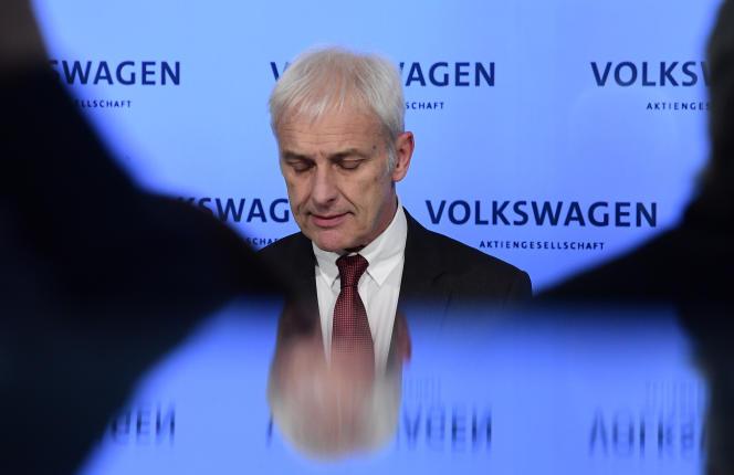 Matthias Müller a été nommédirecteur général du groupe Volswagen en septembre 2015, suite au scandale.