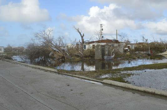 L'île de Barbuda après le passage d'Irma, jeudi 7 septembre.