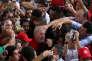 L'ancien président Luiz Inacio Lula da Silva, lors d'un rassemblement politique à Lagarto, dans l'état du Sergipe, le 21 août.