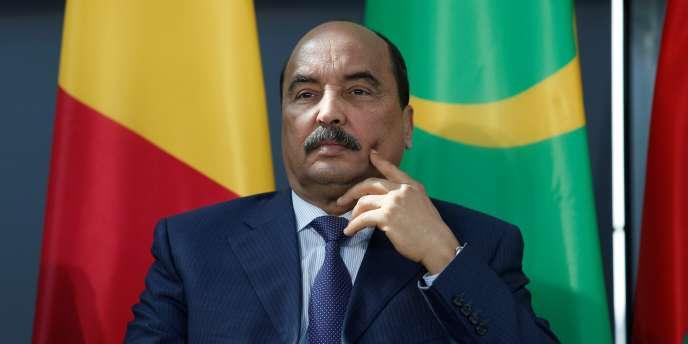 Le président mauritanien, Mohamed Ould Abdel Aziz, à Paris, le 13 avril 2017.