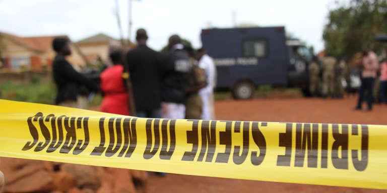 Une scène de crime à Kampala, en Ouganda, en mars 2017.