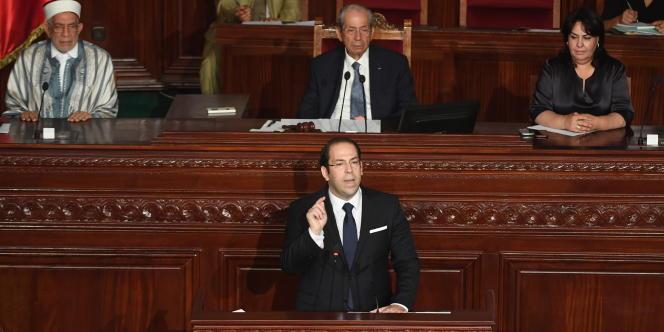 « L'affaire tient plus d'un élitisme technocratique que d'une régression thermidorienne» (Photo: le président tunisien Béji Caïd Essbsi et son premier ministre Youssef Chahed à la tribune de l'Assemblée,le 20 juillet à Tunis).